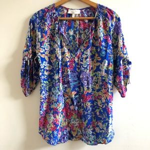Yumi Kim Floral Silk Blouse Small S